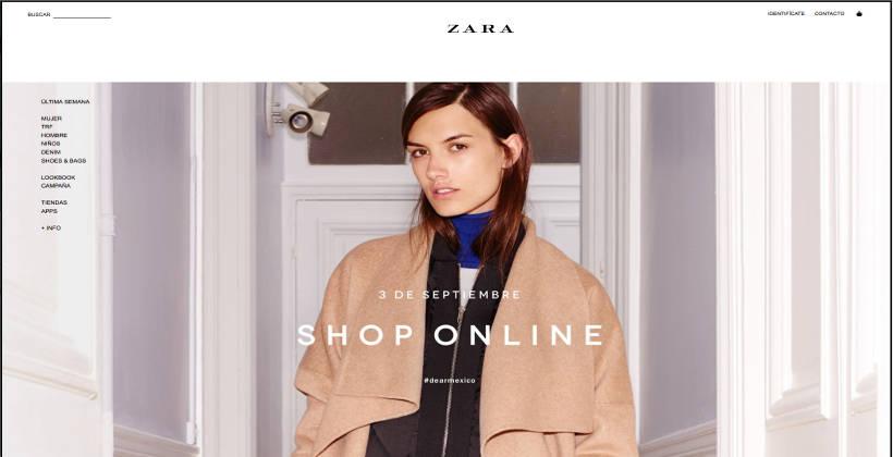 6418b021f49 Zara México ya esta en online   Conexion 360